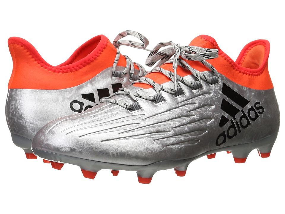 adidas - X 16.2 FG (Silver Metallic/Black/Solar Red) Men