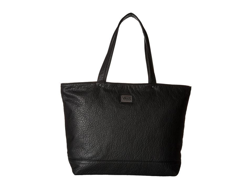 Vans - Airplane Mode Tote (Black Pebbled) Tote Handbags