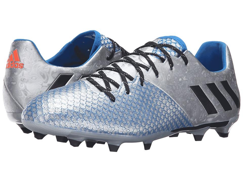 adidas - Messi 16.2 FG (Silver Metallic/Black/Shock Blue) Men