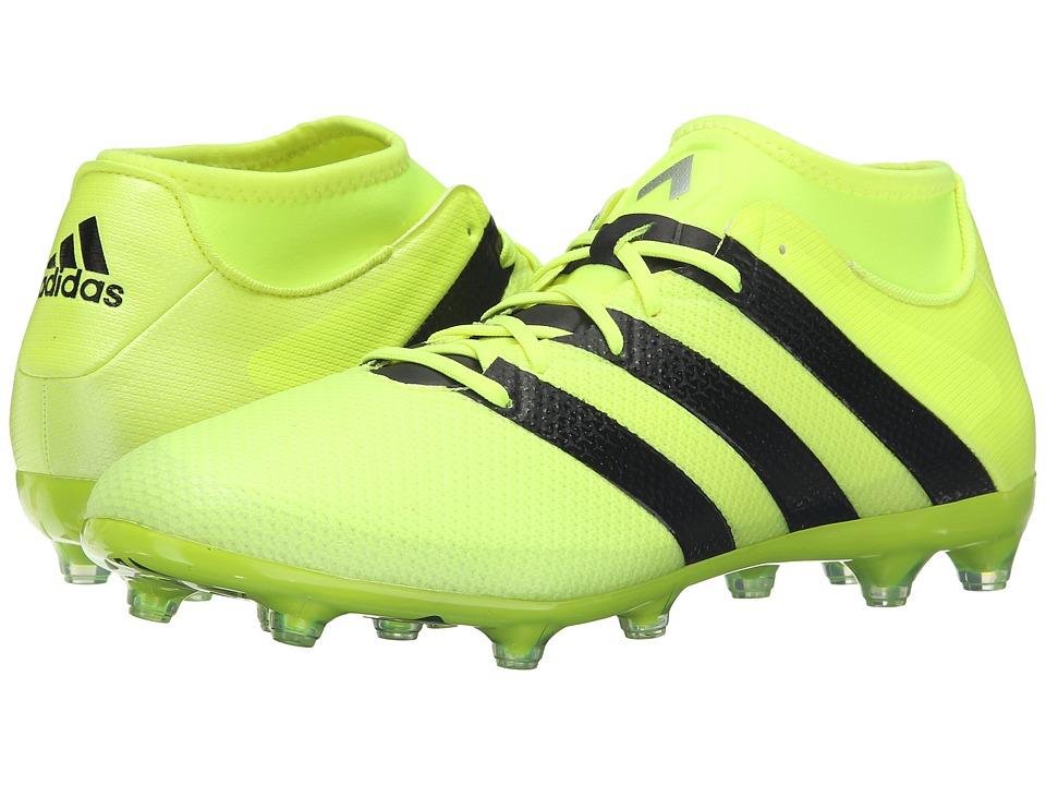 adidas - Ace 16.2 Primemesh FG/AG (Solar Yellow/Black/Silver Metallic) Men