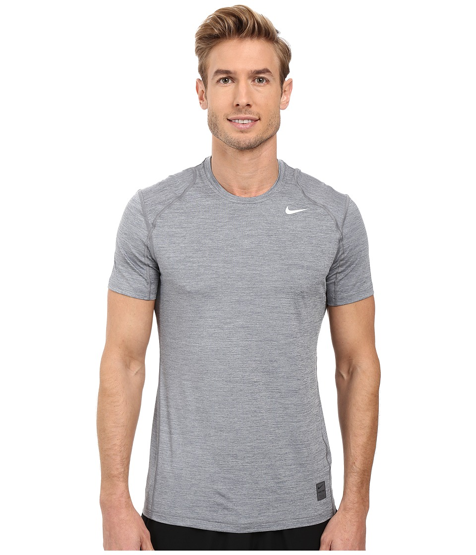 Nike Pro Cool Fitted Heather Top (Cool Grey/Cool Grey/White) Men