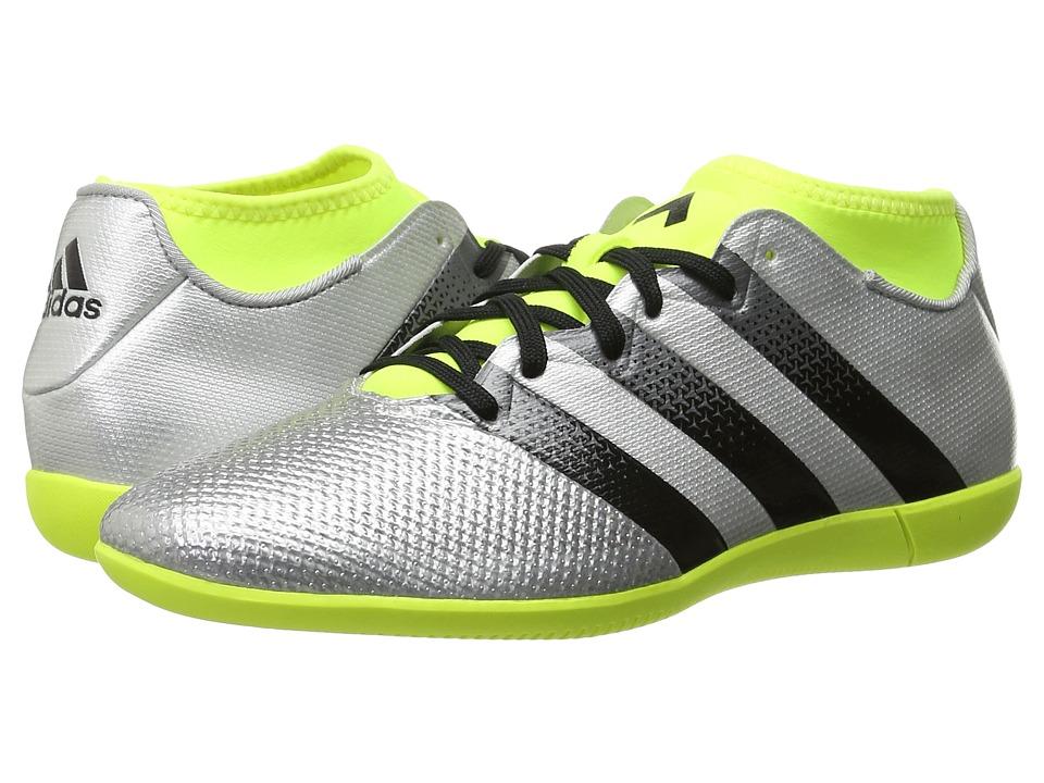 adidas - Ace 16.3 Primemesh IN (Silver Metallic/Black/Solar Yellow) Mens Soccer Shoes