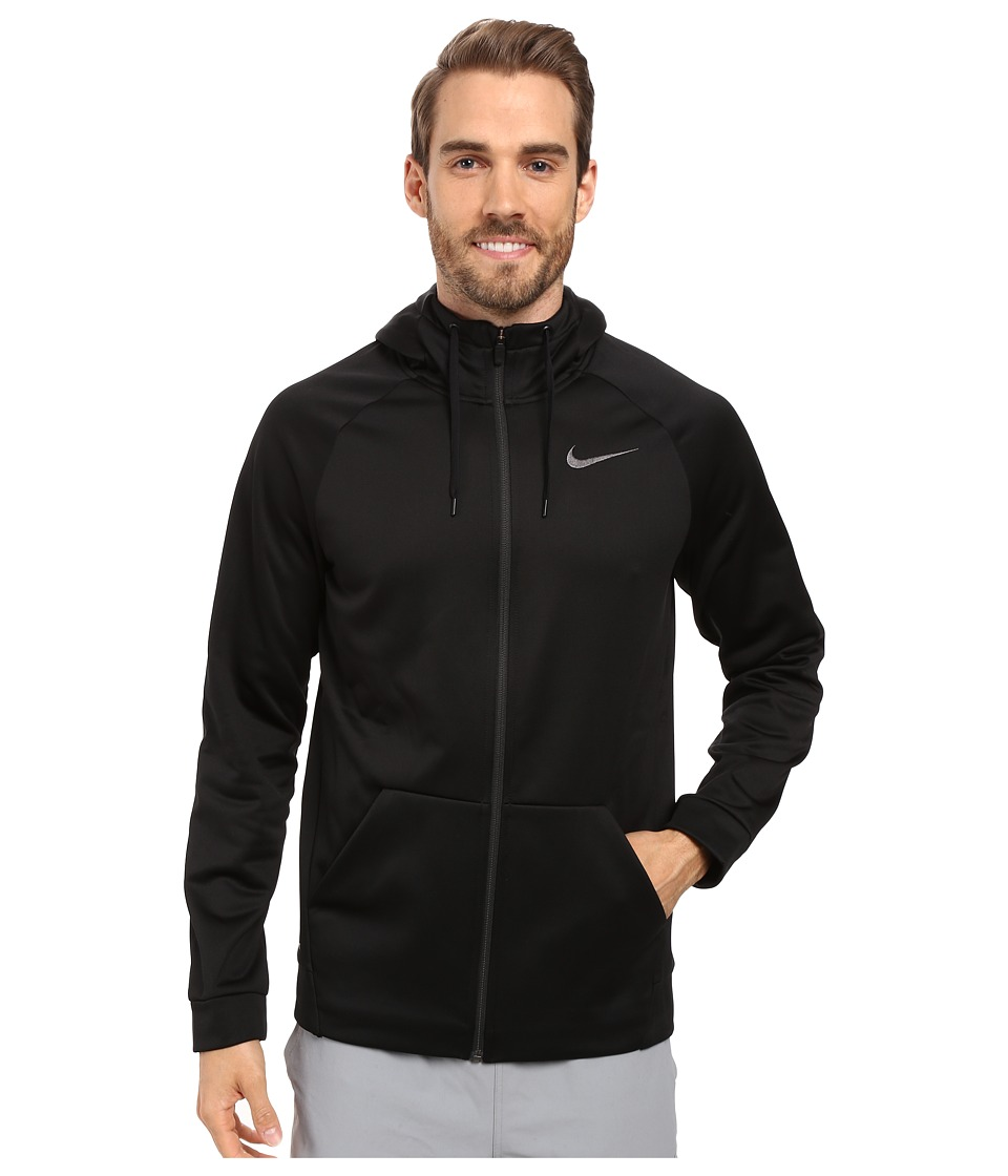 Nike Therma Full-Zip Training Hoodie (Black/Black) Men