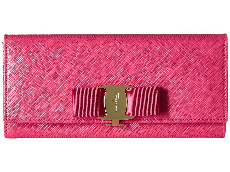 Salvatore Ferragamo - 22B559 (Framboise/Framboise) Continental Wallet