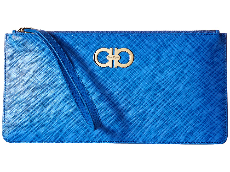 Salvatore Ferragamo - 22C230 (Blue Indien) Wallet