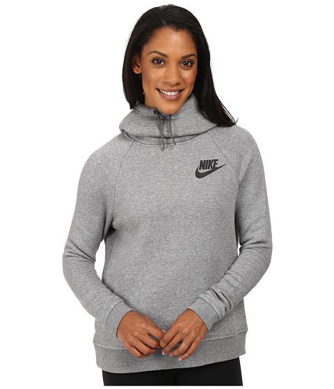 Nike Rally Pullover Hoodie - Carbon Heather/Dark Grey/Black
