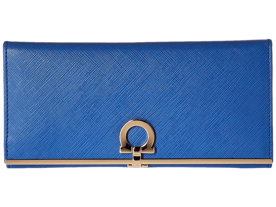 Salvatore Ferragamo - 224633 C (Blue Indien) Bi-fold Wallet
