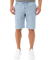 Publish - Saar - Stretch Chambray On Elastic Waistband Shorts