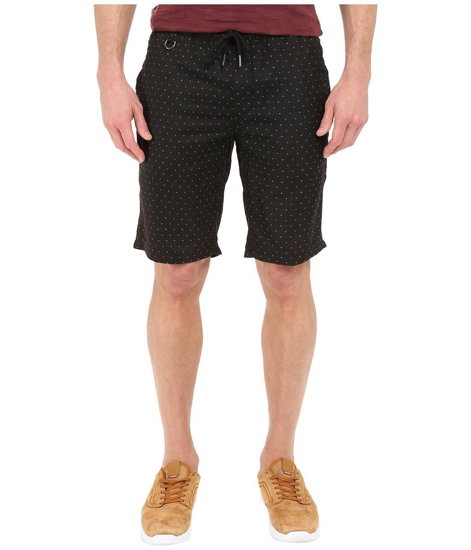 Publish Hugo Jacquard Speckled Stretch Woven Shorts Black Mens Shorts