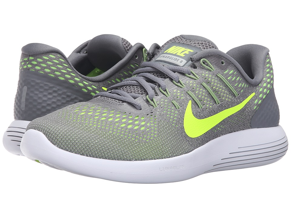 Nike - Lunarglide 8 (Cool Grey/Volt/Anthracite) Men