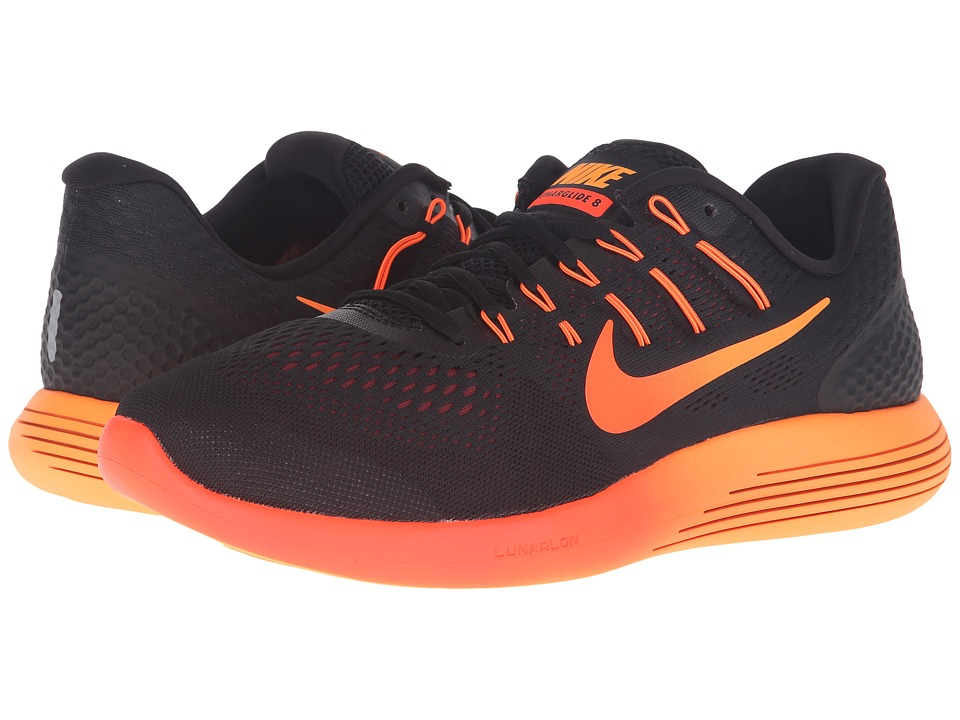 Nike - Lunarglide 8 (Black/Multicolor/Team Red/Total Crimson) Men