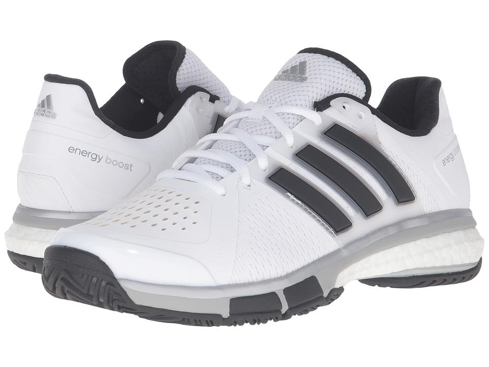 adidas - Tennis Energy Boost (White/Black/Metallic Onix) Men