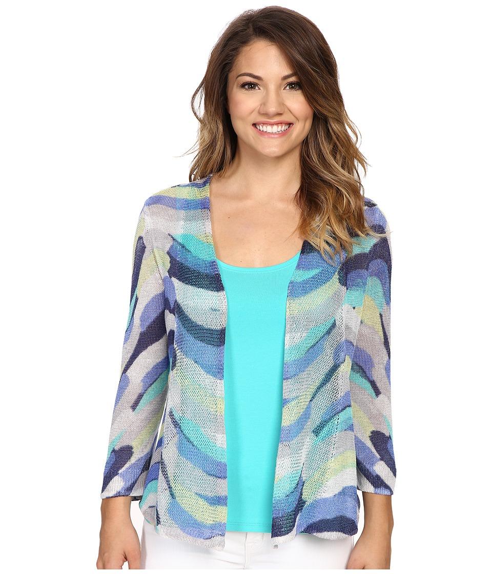 NICZOE Petite Stripe Scope Cardy Multi Womens Sweater