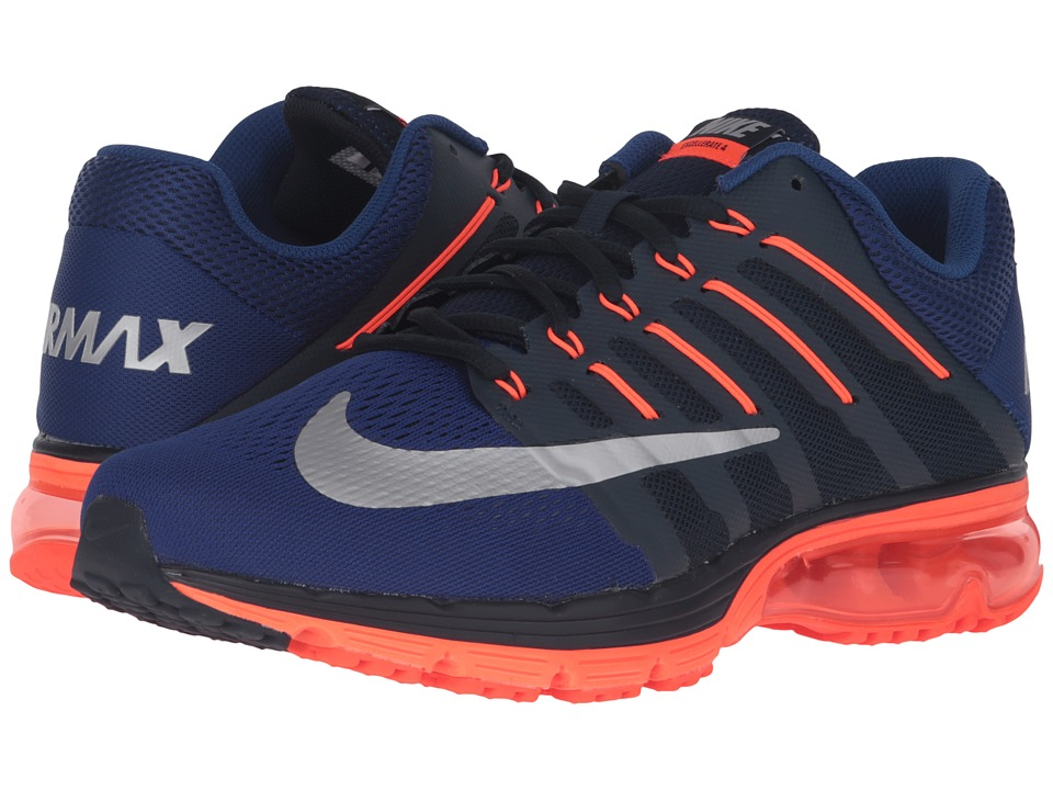 Nike - Air Max Excellerate 4 (Dark Obsidian/Metallic Silver/Total Crimson) Men