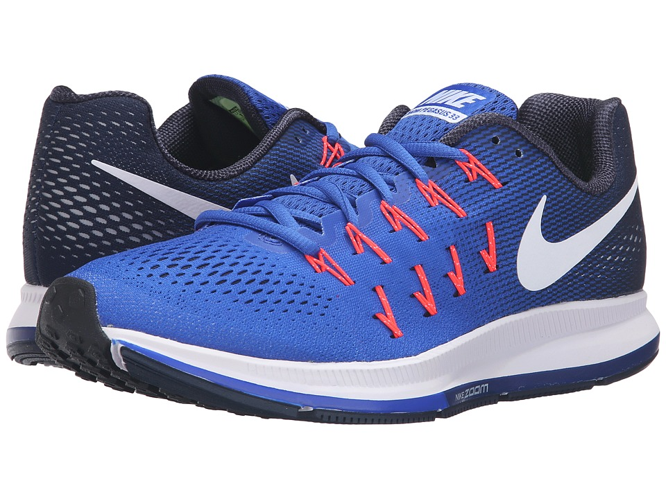 Nike - Air Zoom Pegasus 33 (Racer Blue/White/Mid Navy/Blue Glow) Men