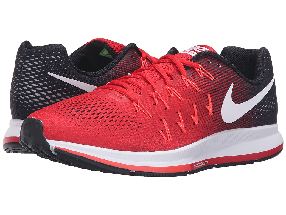 Nike - Air Zoom Pegasus 33 (University Red/White/Black/Bright Crimson) Men