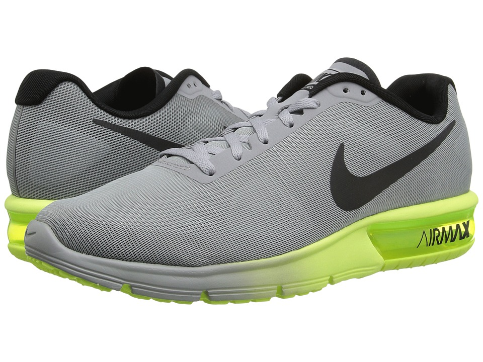 Nike - Air Max Sequent (Wolf Grey/Black/Volt) Men