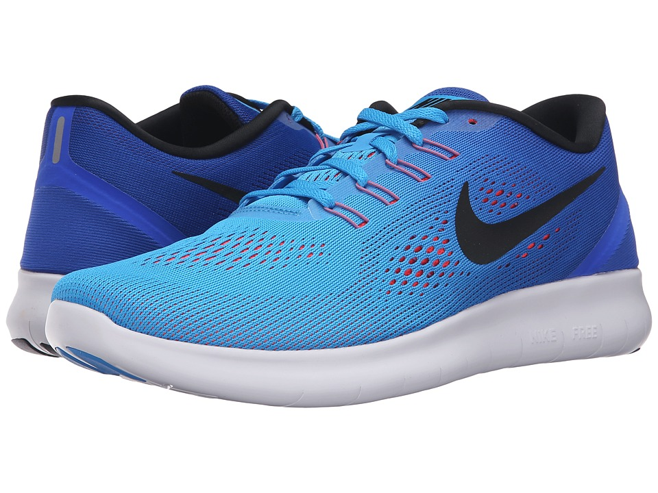 Nike - Free RN (Blue Glow/Black/Racer Blue/Bright Crimson) Men