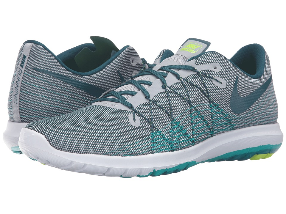 Nike Flex Fury 2 (Wolf Grey/Midnight Turquoise/Real Teal/Clear Jade) Men