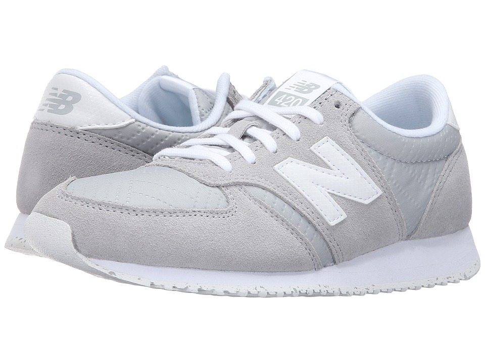 New Balance Classics - WL420v1 (Silver Mink/White) Womens Running Shoes