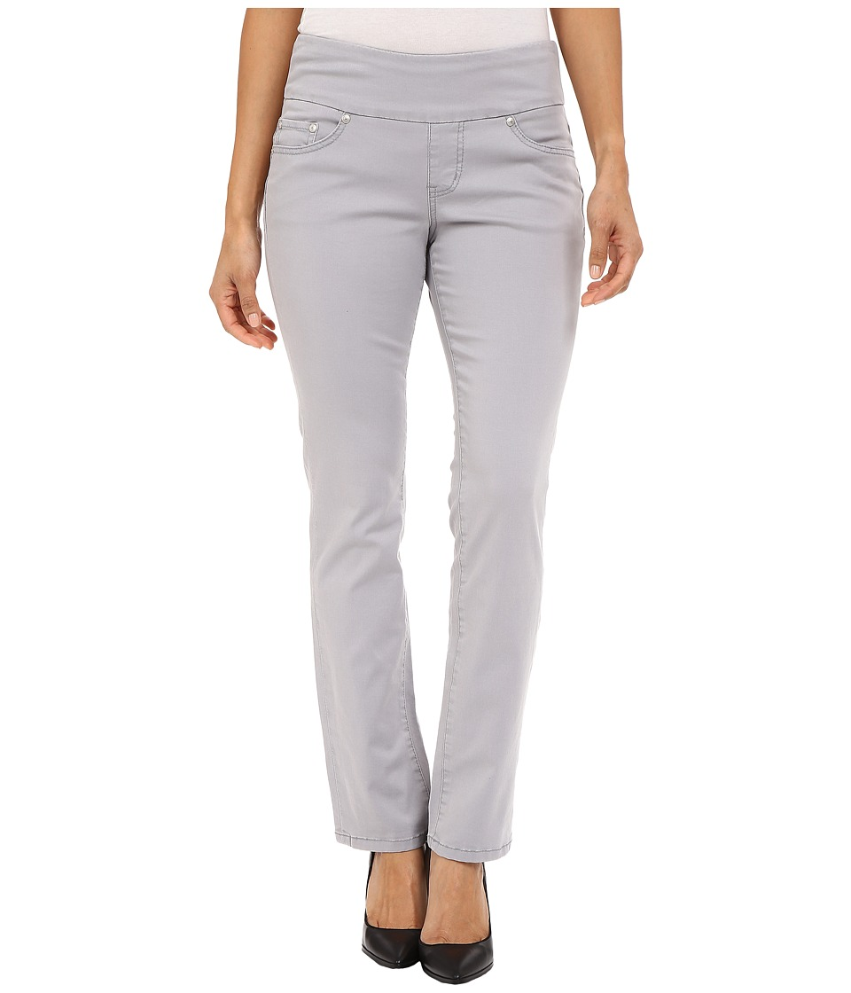 Jag Jeans Petite Petite Peri Pull On Straight Twill Pants Grey Morn Womens Casual Pants