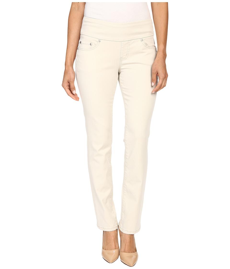 Jag Jeans Petite Petite Peri Pull On Straight Twill Pants (Stone) Women