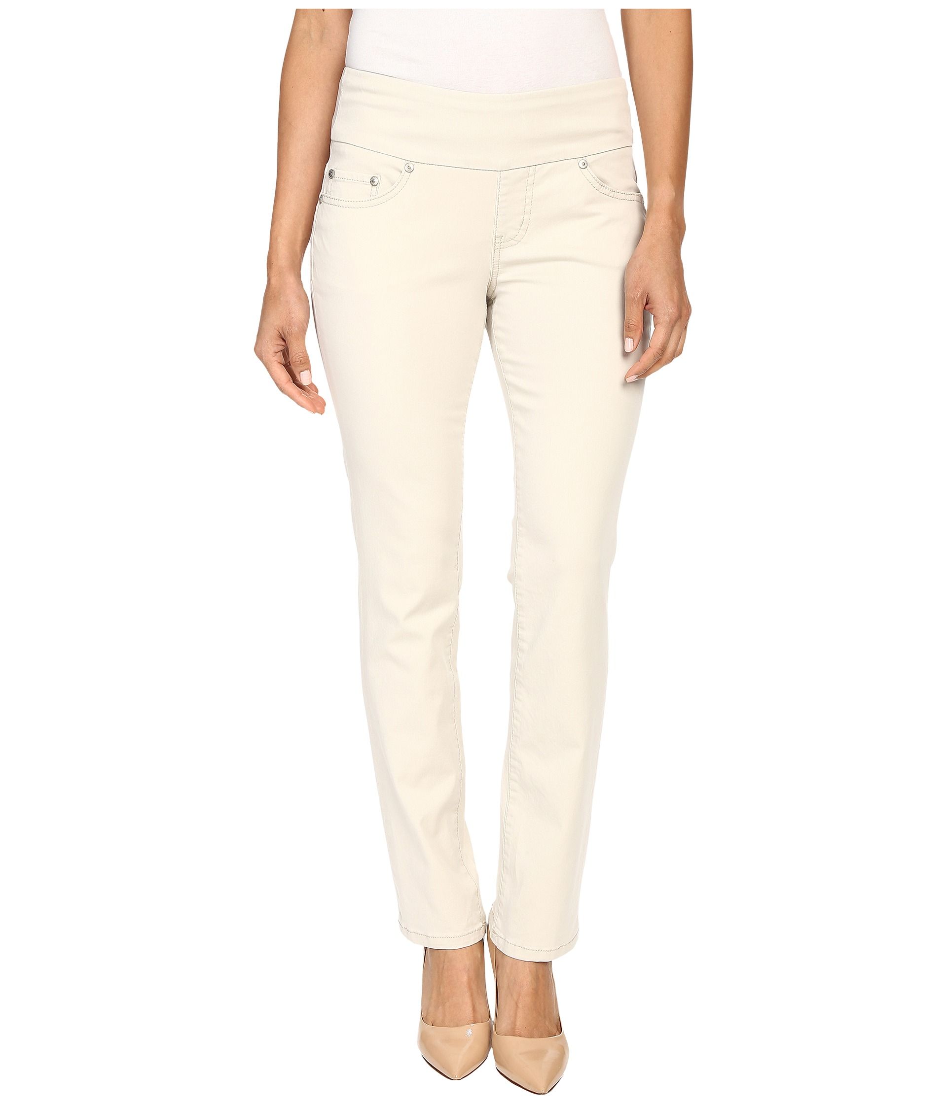 Jag Jeans Petite Petite Peri Pull On Straight Twill Pants - Zappos ...