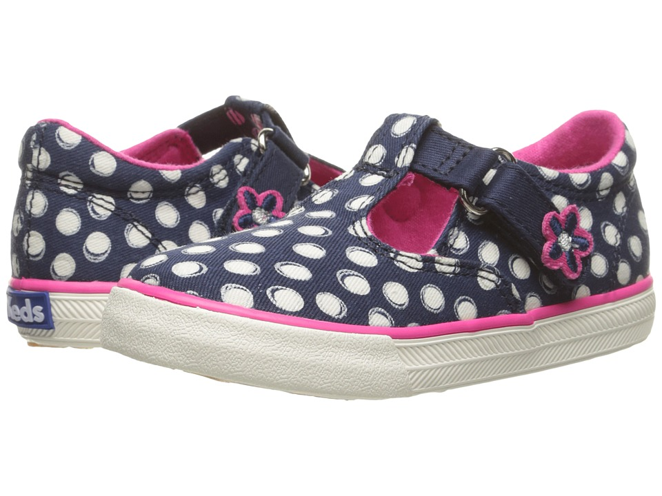 Keds Kids - Daphne (Infant/Toddler) (Navy Dot) Girls Shoes