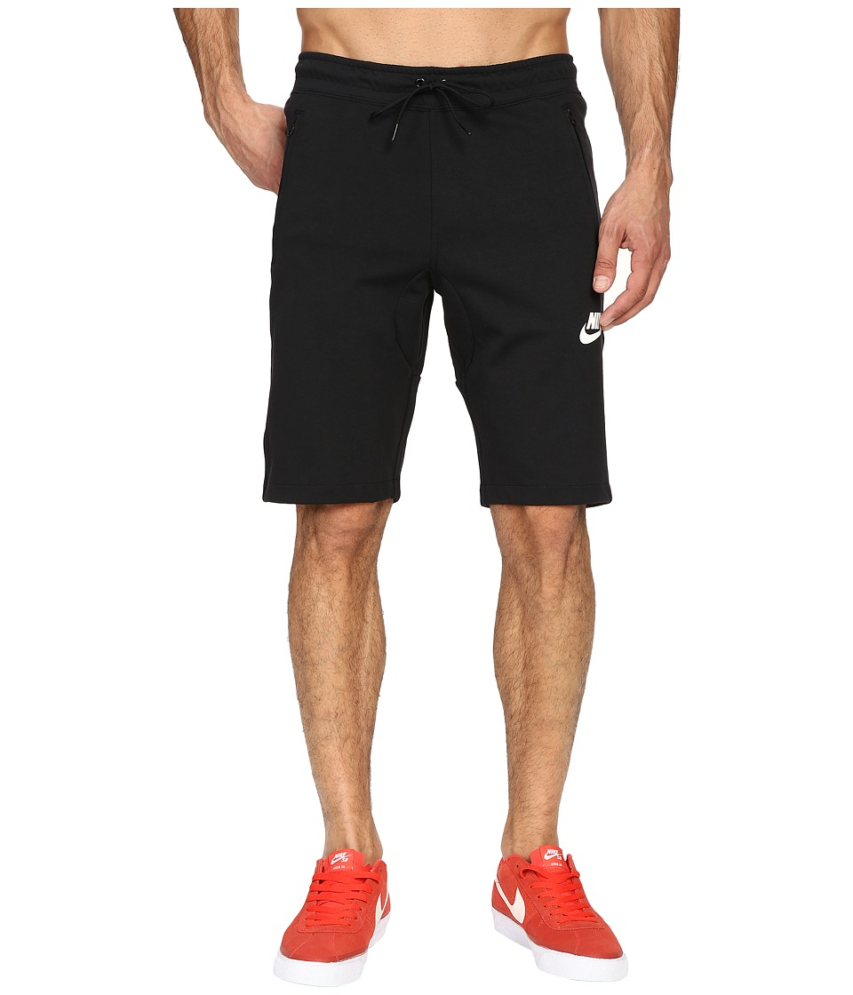 Nike NSW AV15 Fleece Shorts (Black/Black/Black/Black) Men