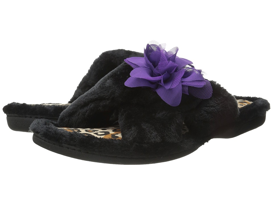 Foot Petals Foot Petals Adjustable Slide with Flower (Black) Women