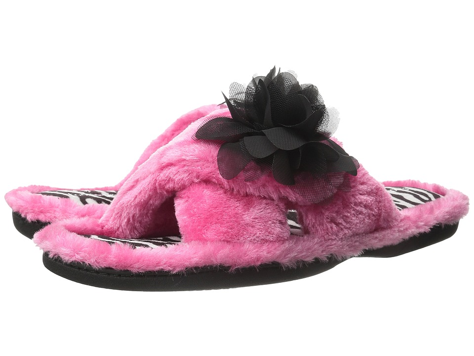 Foot Petals Foot Petals Adjustable Slide with Flower (Pink/Zebra) Women