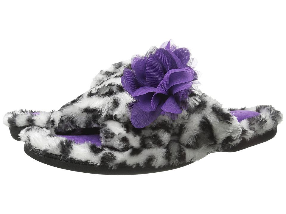Foot Petals Foot Petals Adjustable Slide with Flower Grey Womens Slippers
