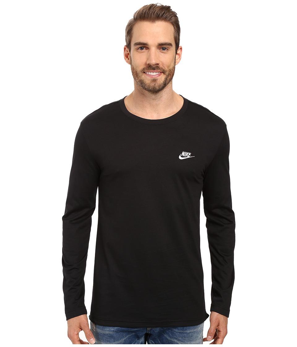 Nike Sportswear Long Sleeve Shirt (Black/White) Men