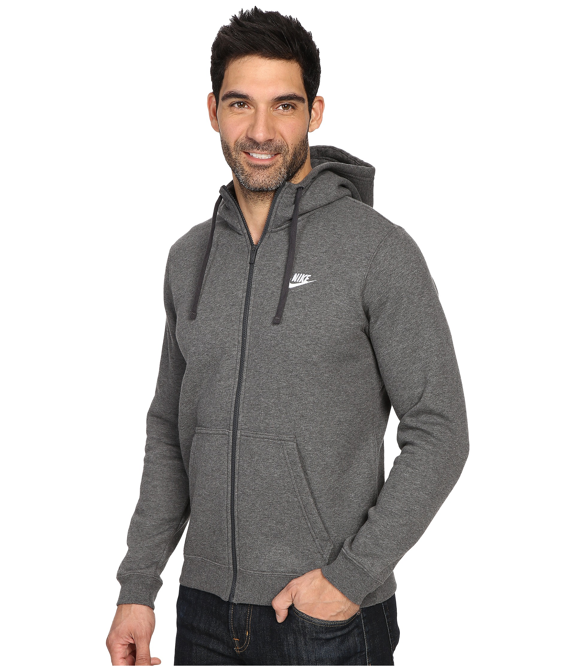 Nike Club Fleece Full-Zip Hoodie - Zappos.com Free Shipping BOTH Ways