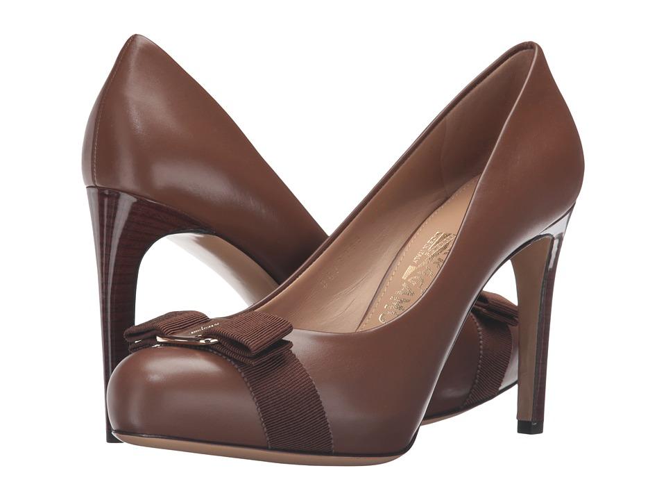 Salvatore Ferragamo - Pimpa C (Ecorce Calf Leather) High Heels
