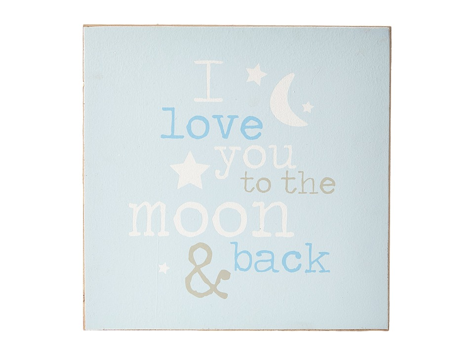 Mud Pie Moon and Back Plaque Blue Accessories Travel