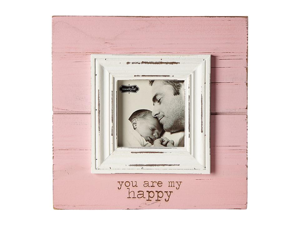 Mud Pie My Happy Frame Pink Accessories Travel