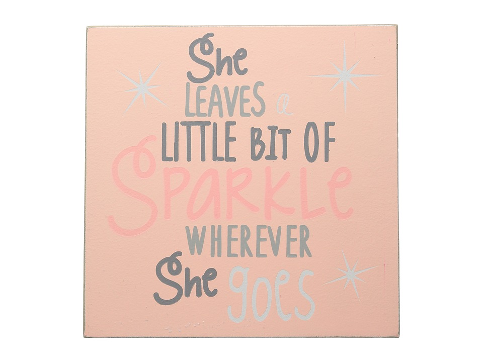 Mud Pie She Sparkles Plaque Pink Accessories Travel