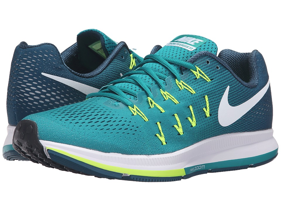 Nike - Air Zoom Pegasus 33 (Rio Teal/White/Midnight Turquoise/Volt) Men