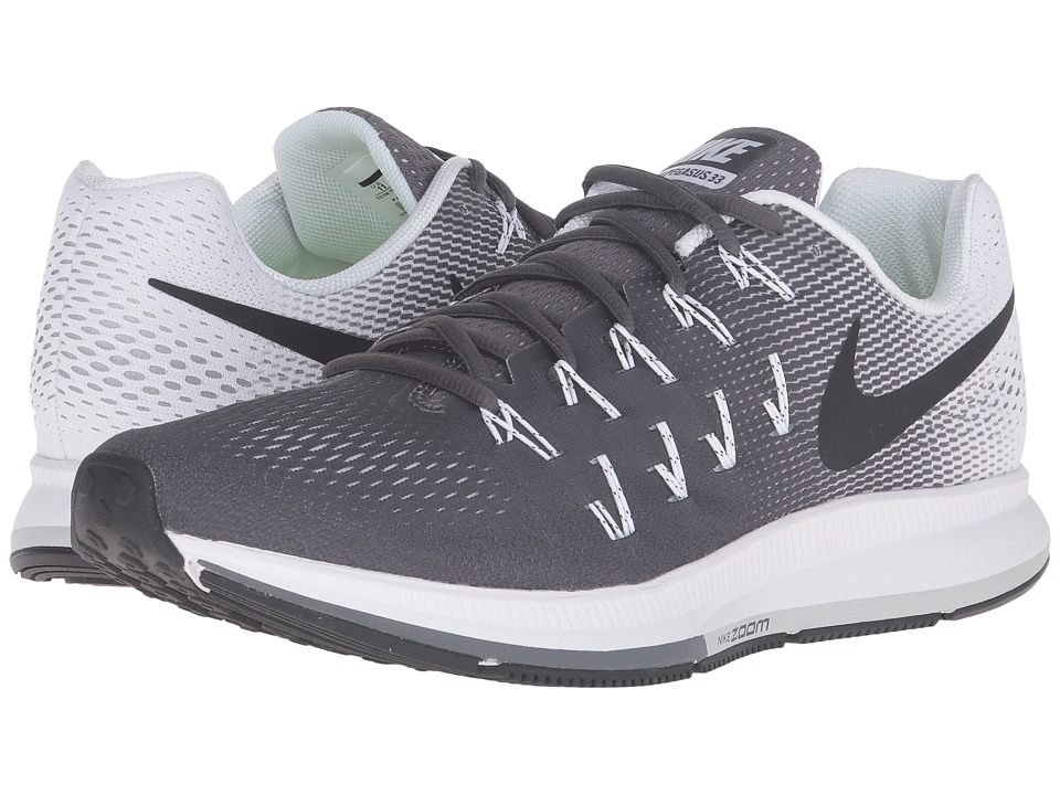 Nike - Air Zoom Pegasus 33 (Dark Grey/Black/White) Men