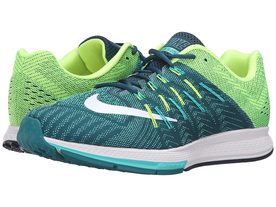 Nike - Air Zoom Elite 8 (Midnight Turquoise/White/Clear Jade/Volt) Men