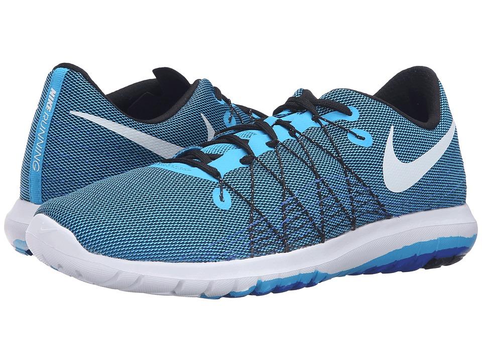 Nike Flex Fury 2 (Blue Glow/White/Black/Racer Blue) Men