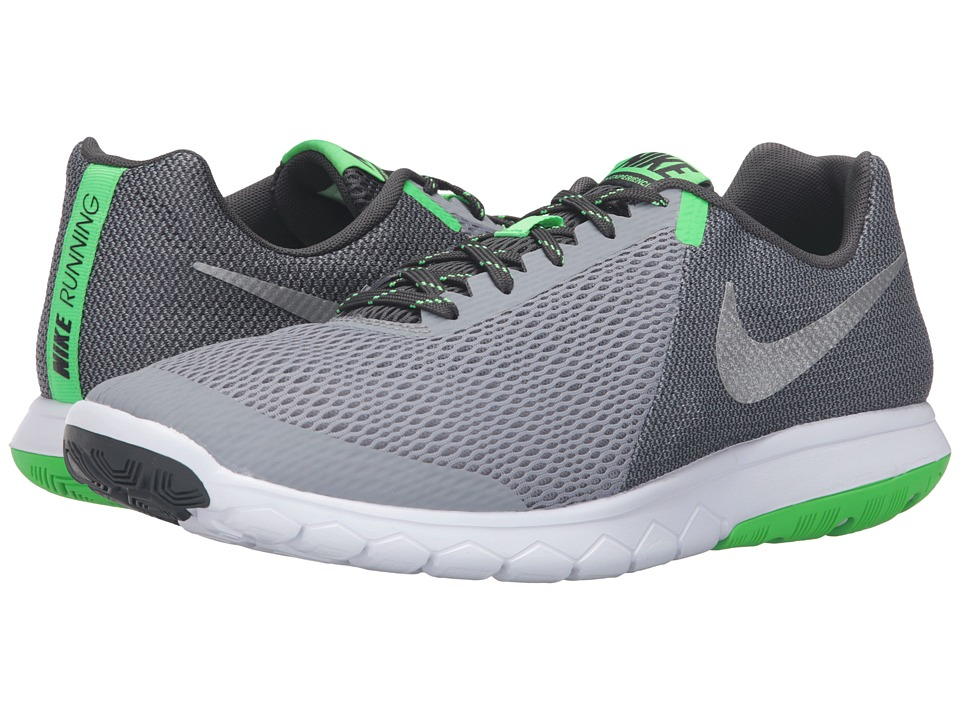 Nike Flex Experience RN 5 (Stealth/Metallic Silver/Anthracite/Rage Green) Men\u0026#39;s Running Shoes