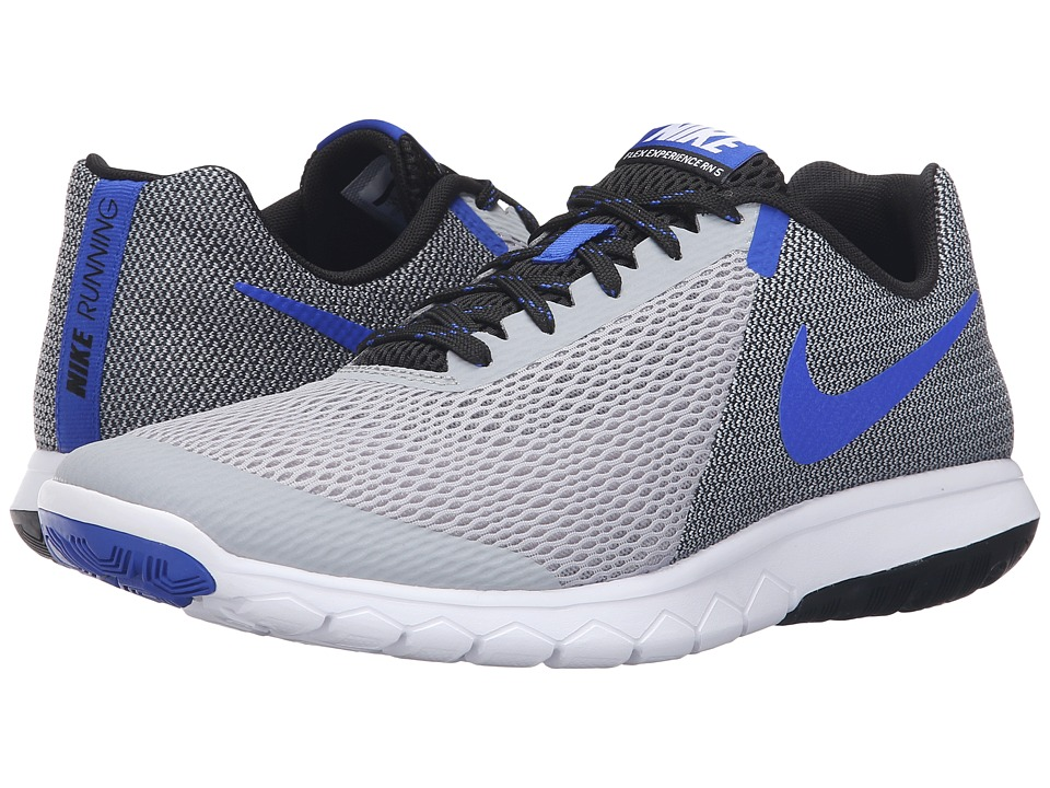 Nike Flex Experience RN 5 (Wolf Grey/Racer Blue/Black/White) Men\u0026#39;s Running Shoes