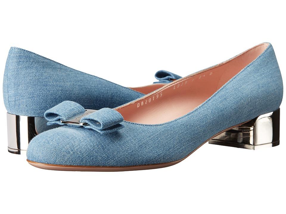 Salvatore Ferragamo - Vara Fashion (Blue Denim/Denim) High Heels
