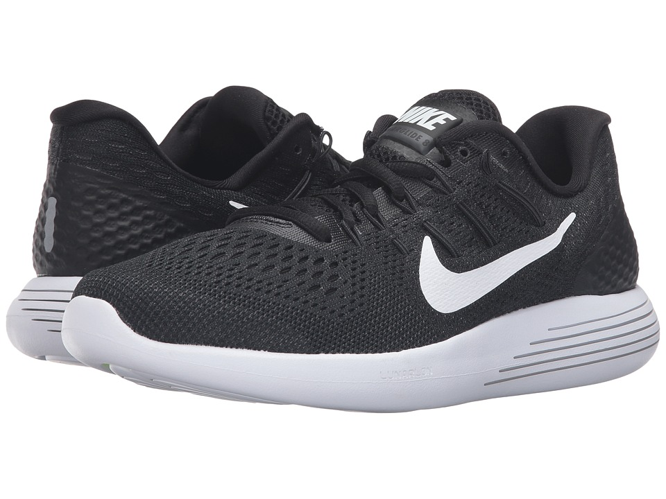Nike Lunarglide 8 (Black/White/Anthracite) Women's Runnin...