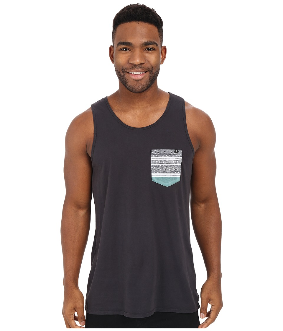 Rip Curl Exile Custom Pocket Tank Top Charcoal Mens Sleeveless