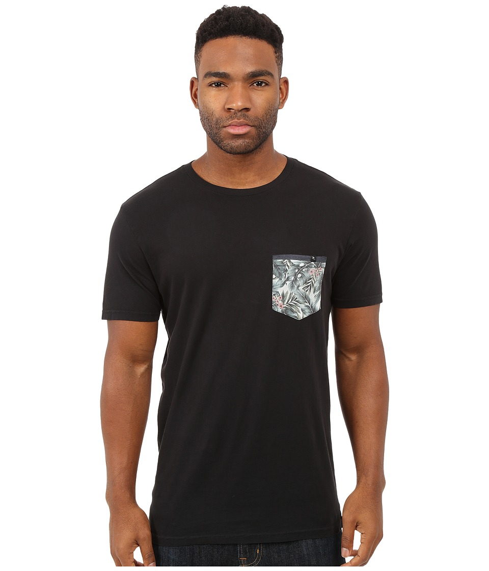 Rip Curl Exile Custom Pocket Tee Black Mens T Shirt