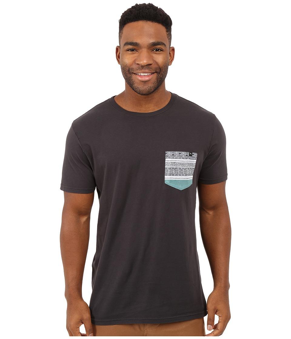 Rip Curl Exile Custom Pocket Tee Charcoal Mens T Shirt
