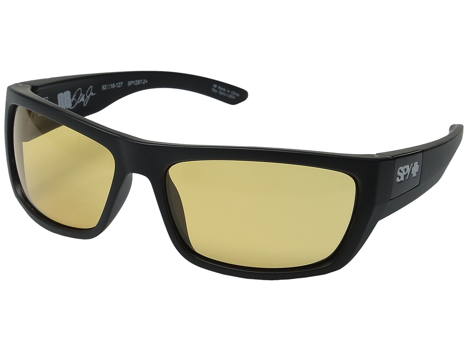 Spy Optic - Dega (Ansi Rx/Matte Black/Happy Yellow) Athletic Performance Sport Sunglasses